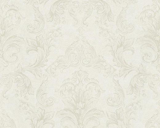 VLIESTAPETE 10,05 m - Perlmutt/Creme, Basics, Textil (70/1005cm)