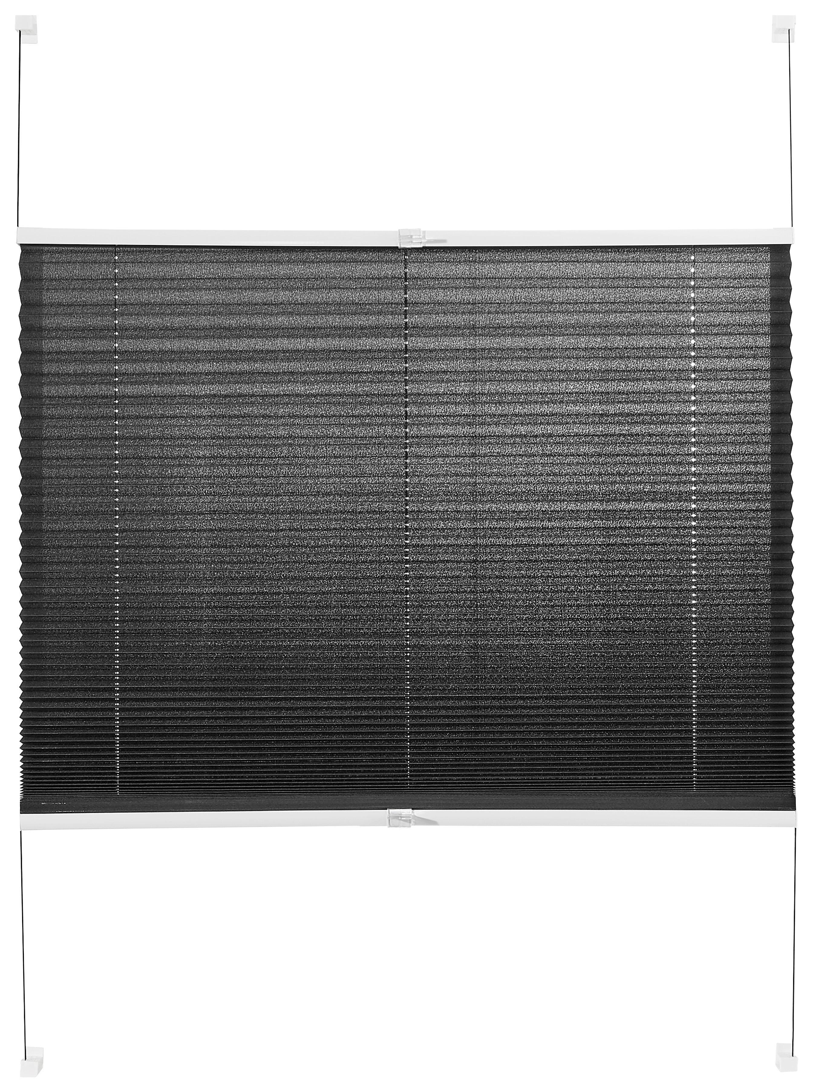 PLISSEE  halbtransparent   80/130 cm - Grau, Basics, Textil (80/130cm) - HOMEWARE