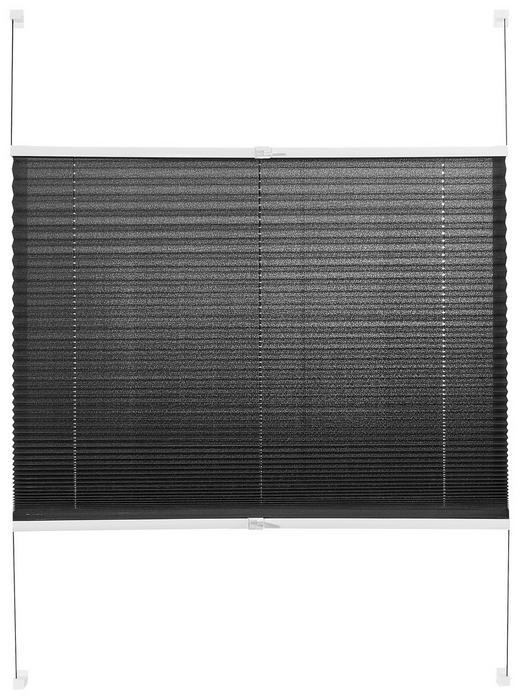 PLISSEE  halbtransparent - Grau, KONVENTIONELL, Textil (80/130cm) - Homeware