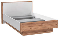 BETT 120/200 cm  in Weiß, Eichefarben - Eichefarben/Weiß, KONVENTIONELL, Holzwerkstoff (120/200cm) - Xora
