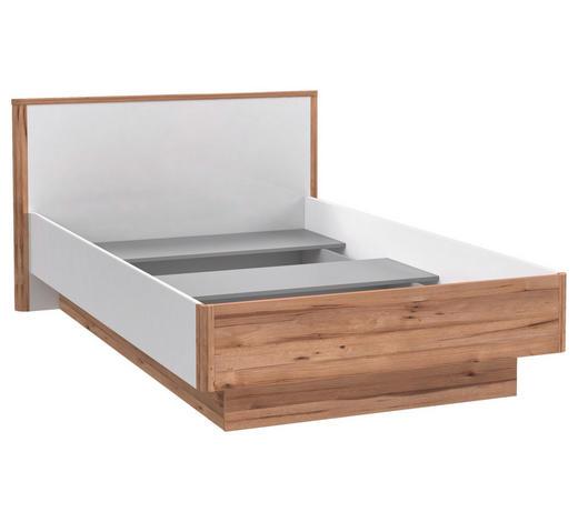 BETT 90/200 cm  in Weiß, Eichefarben - Eichefarben/Weiß, KONVENTIONELL, Holzwerkstoff (90/200cm) - Xora