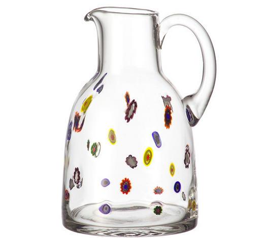 DŽBÁN SKLENĚNÝ, 2 l,  - čiré/vícebarevná, Trend, sklo (25cm) - Leonardo