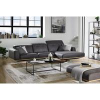 SEDEŽNA GARNITURA,  siva, bež les, tekstil  - siva/bež, Design, kovina/tekstil (311/163cm) - Dieter Knoll
