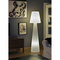 AUßENSTEHLEUCHTE Weiß, Transparent - Transparent/Weiß, Design, Kunststoff (45/165cm)