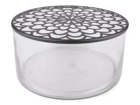 VAS - svart/transparent, Design, metall/glas (20/10cm)