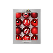 SADA VÁNOČNÍCH KOULÍ - bordová/červená, Lifestyle, sklo (8cm)