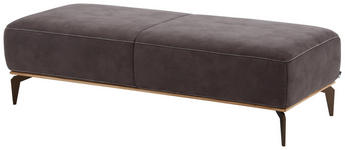 HOCKER Mikrofaser Braun - Beige/Braun, Design, Textil/Metall (151/42/61cm) - Valnatura