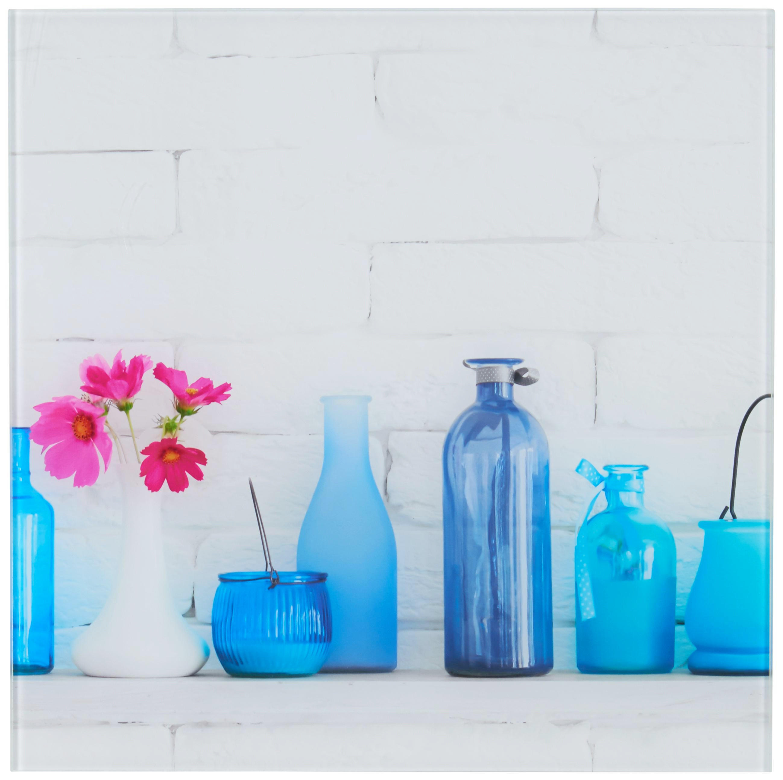 GLASBILD - Multicolor, Basics, Glas/Metall (30/30cm)