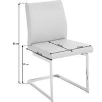 SCHWINGSTUHL Echtleder Nussbaum Beige - Beige, Design, Leder/Holz (49/88/62cm) - Joop!
