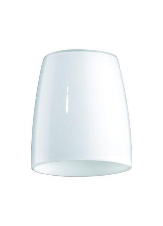 LEUCHTENGLAS  Weiß  Glas - Weiß, LIFESTYLE, Glas (6,5/7,2cm)