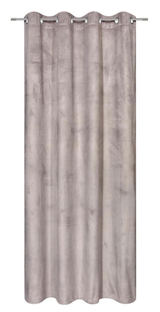 ÖSENSCHAL  blickdicht  140/245 cm - Hellgrau, KONVENTIONELL, Textil (140/245cm) - Esposa