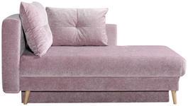 SCHLAFSOFA Rosa - Eichefarben/Rosa, Design, Holz/Textil (166/96/104cm) - Novel
