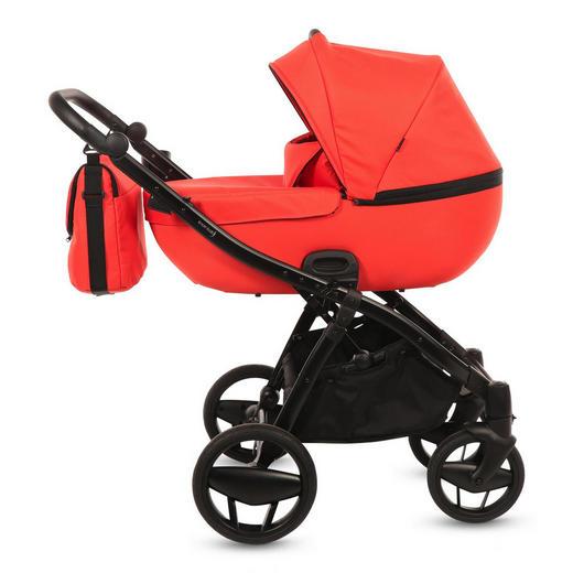 Piquetto Uni  Knorr-Baby Kinderwagenset  Orange - Schwarz/Orange, Basics, Textil/Metall (60/107/110cm)