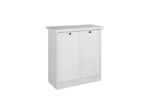KOMMODE Weiß - Silberfarben/Weiß, LIFESTYLE, Holzwerkstoff/Metall (80/90/35cm) - Carryhome
