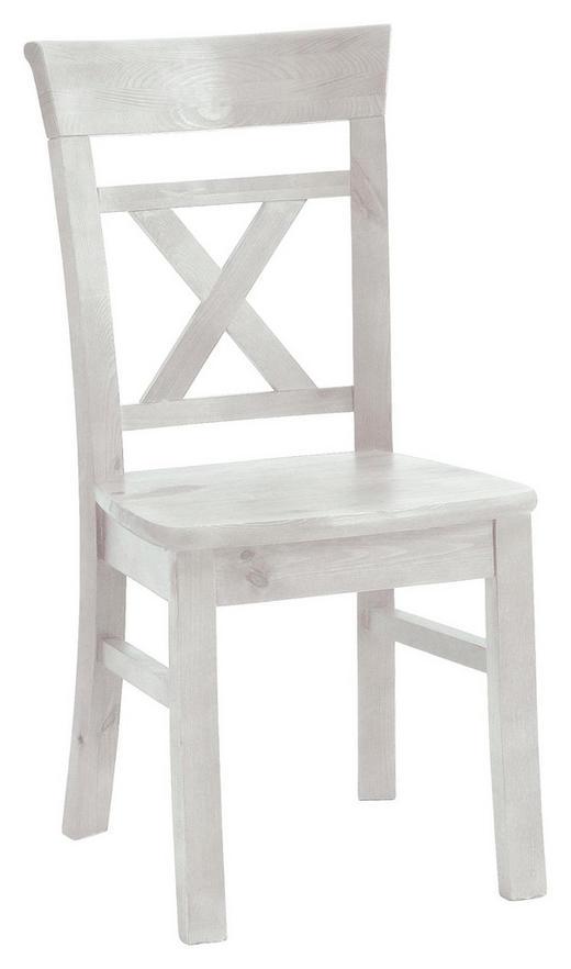 STUHL Kiefer massiv Weiß - Weiß, Design, Holz (44/96/50cm) - Carryhome