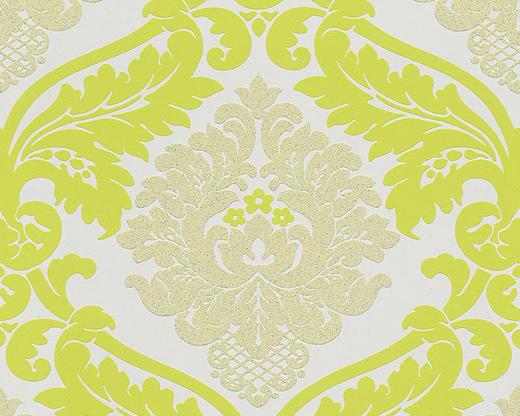 VLIESTAPETE 10,05 m - Gelb/Weiß, Design, Textil (53/1005cm)
