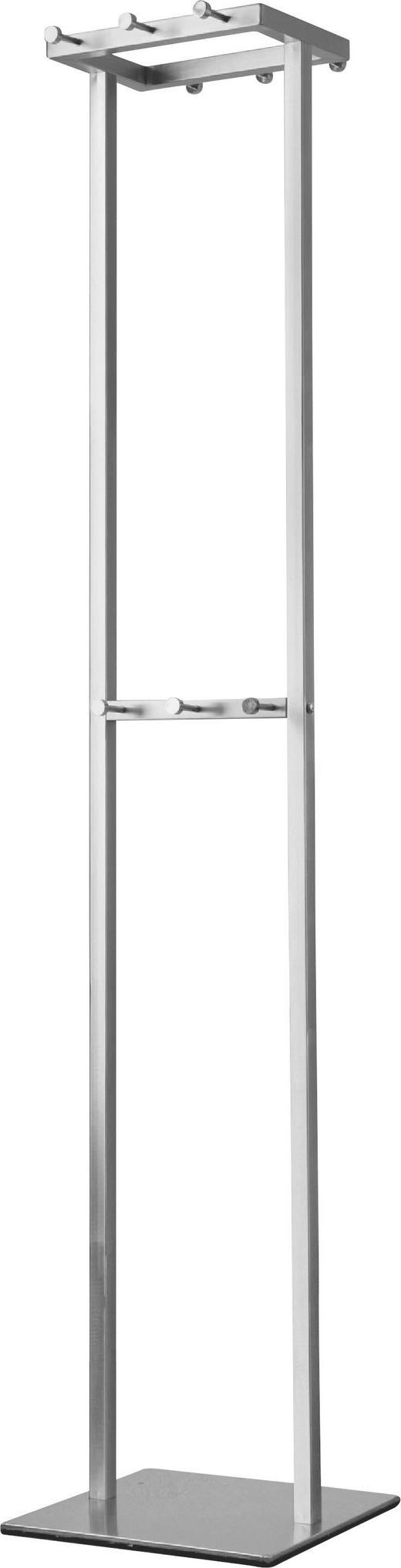 GARDEROBENSTÄNDER Edelstahlfarben - Edelstahlfarben, Design, Metall (35/176/35cm)