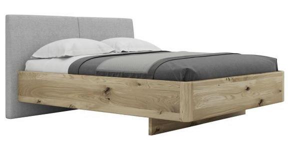 BETT 160/200 cm  in Eichefarben, Grau - Eichefarben/Grau, Natur, Holz/Textil (160/200cm) - Valnatura
