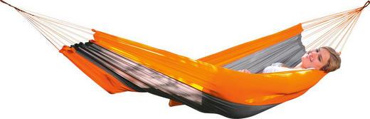 HÄNGEMATTE Synthetikfaser Grau, Orange - Orange/Grau, Basics, Textil (350/140cm)