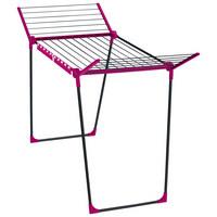 STANDTROCKNER - Pink/Grau, Basics, Kunststoff (95/66,3/6,2cm) - Leifheit