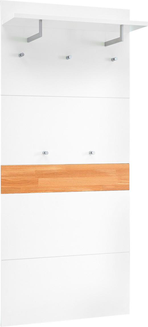 GARDEROBENPANEEL lackiert, matt Sandfarben, Weiß - Sandfarben/Weiß, Design (80/183/27cm)