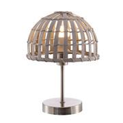LAMPA STOLNÍ - šedá, Lifestyle, kov/dřevo (20/30cm)