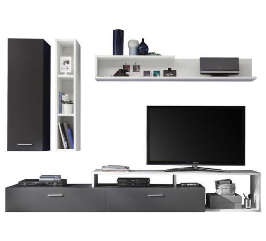 OBÝVACÍ STĚNA, šedá, bílá - šedá/bílá, Moderní, kompozitní dřevo/umělá hmota (265/185/42cm) - Ti`me