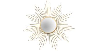 NÁSTĚNNÉ ZRCADLO - barvy zlata, Trend, kov/sklo (60cm)