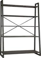 REGÁL - černá, Design, kov (140/195/54,5cm) - AMBIA HOME