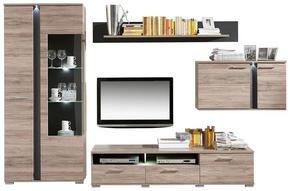HYLLKOMBINATION - silver/skifferfärgad, Design, metall/glas (331/204/54cm) - Carryhome