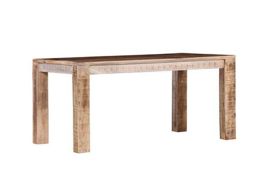 ESSTISCH Mangoholz massiv rechteckig Naturfarben - Naturfarben, Design, Holz (160/90/78cm)
