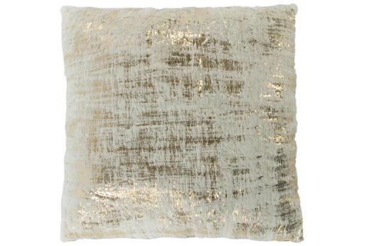 ZIERKISSEN 45/45 cm - Goldfarben/Creme, Textil (45/45cm)
