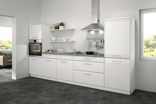 Küchenblock ohne E-Geräte Soft-Close-System, Spüle - Weiß, Design (330cm) - Set one by Musterrin