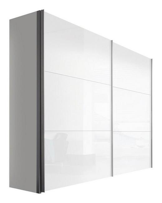 SCHWEBETÜRENSCHRANK 2  -türig Weiß - Weiß, KONVENTIONELL, Holzwerkstoff/Metall (250/216/68cm) - Hom`in