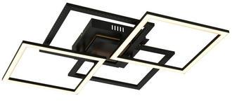 LED-DECKENLEUCHTE - Schwarz, Design, Metall (63/63/10cm) - Ambiente