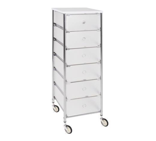 ALLZWECKWAGEN Metall, Kunststoff Weiß, Alufarben  - Alufarben/Weiß, Basics, Kunststoff/Metall (33/102/36cm)