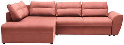 WOHNLANDSCHAFT in Textil Koralle  - Koralle/Schwarz, Design, Kunststoff/Textil (286/184cm) - Carryhome