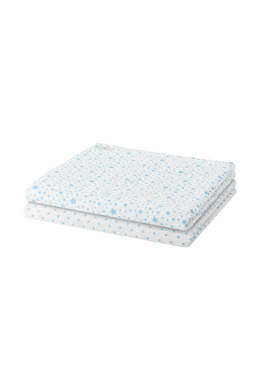 WINDEL - Weiß/Hellblau, Basics, Textil (80/80cm) - BELLY BUTTON