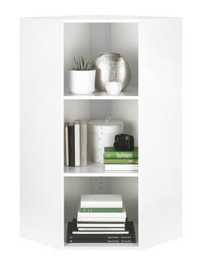HÖRNHYLLA - vit/svart, Design, träbaserade material/plast (59,5/115,2/59,5cm) - Carryhome