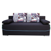 TROSED - črna, Design, tekstil (200/80/88cm) - XORA