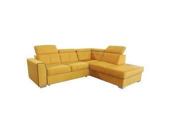 SJEDEĆA GARNITURA - žuta/boje aluminija, Design, drvni materijal/drvo (245/215cm) - Xora