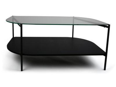 SOFFBORD - svart, Design, glas/träbaserade material (100/45/60cm)