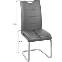 SCHWINGSTUHL Lederlook Grau, Edelstahlfarben  - Edelstahlfarben/Grau, Design, Textil/Metall (43/98/58cm) - Xora