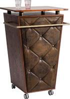 BAR in Braun, Messingfarben - Messingfarben/Braun, Design, Holz/Holzwerkstoff (70/108/52cm)
