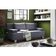 ZOFA S POSTELJNO FUNKCIJO,  modra tekstil - modra/krom, Moderno, kovina/tekstil (197/88/89cm) - Xora
