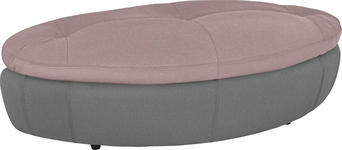 HOCKER in Textil Grau, Rosa  - Schwarz/Rosa, Design, Kunststoff/Textil (155/47/78cm) - Hom`in