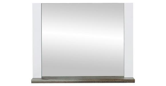 SPIEGEL Braun, Weiß  - Weiß/Braun, KONVENTIONELL, Holzwerkstoff (90/70/14cm) - Voleo