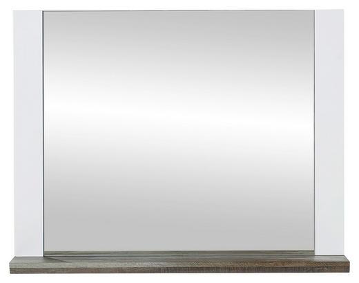 SPIEGEL Weiß - Weiß/Braun, KONVENTIONELL, Holzwerkstoff (90/70/14cm) - Xora