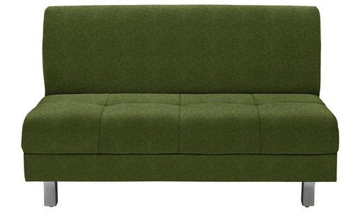 SCHLAFSOFA in Textil Dunkelgrün - Chromfarben/Dunkelgrün, MODERN, Textil (144/90/103cm) - Novel