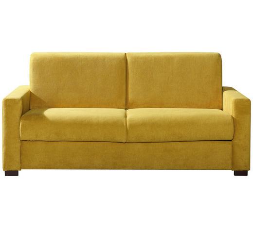 SCHLAFSOFA Gelb  - Chromfarben/Gelb, KONVENTIONELL, Textil/Metall (183/88/99cm) - Carryhome